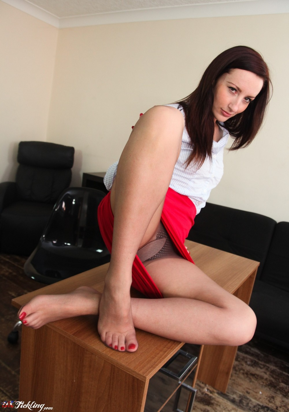 Sophia Smith Office Secretary Pantyhose Feet