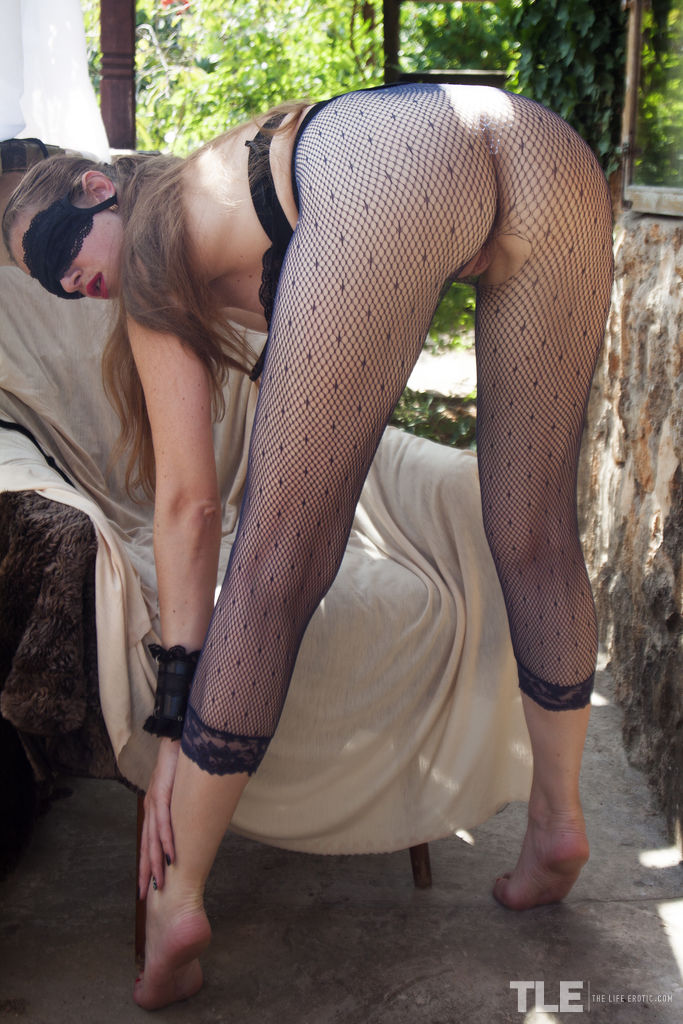 Mika A BLIND PASSION by Angela Linin Fishnet Pantyhose
