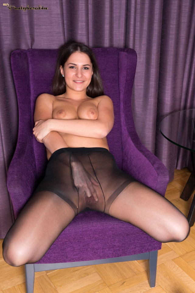 Ellen Betsy Black Pantyhose Video