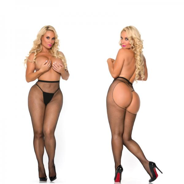 Cocolicious Pop Your Bubble Fishnet PantyHose Black www.EssentialErotics.com