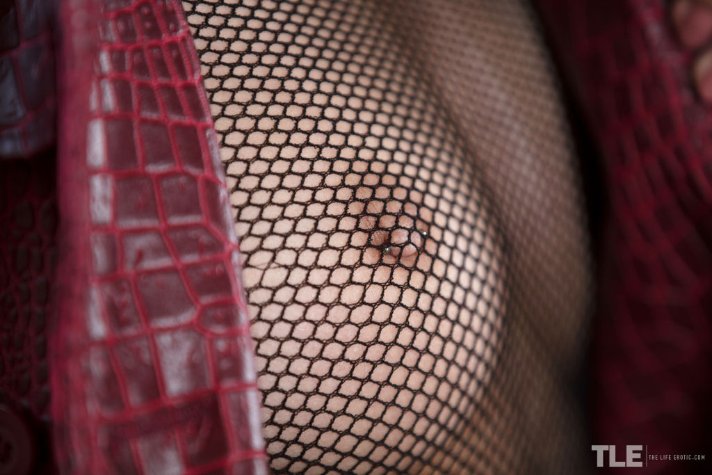Industrial 1 featuring Veronica Clark in Fishnet Pantyhose by Sandra Shine