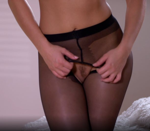 Pantyhose Love Video by MetArtX Lee Anne Masturbates in Black Pantyhose